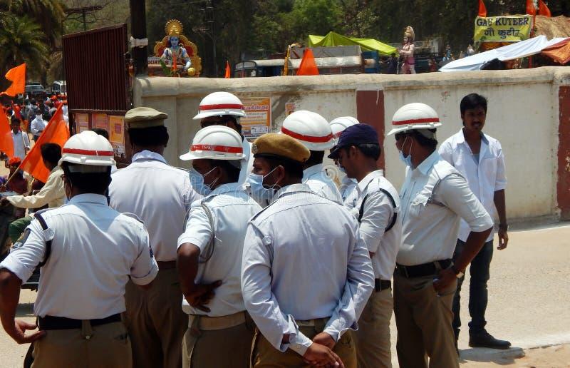 Polícia de trânsito de Indan imagens de stock royalty free
