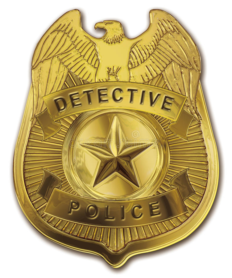 A polícia do detetive Badge ilustração stock