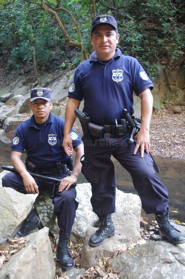 Polícia do turista em El Salvador foto de stock royalty free