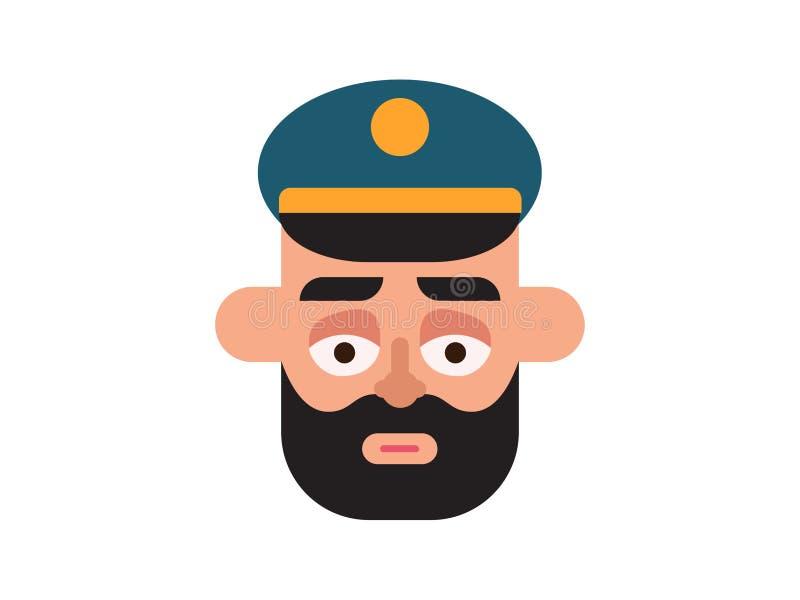 Polícia do vetor em um fundo branco ilustração do vetor