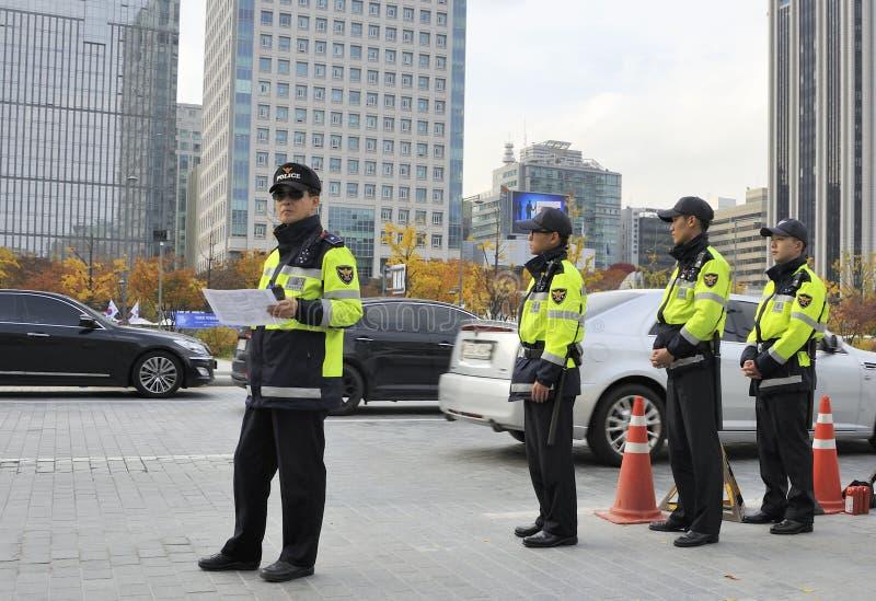 Polícia em Seoul imagem de stock royalty free