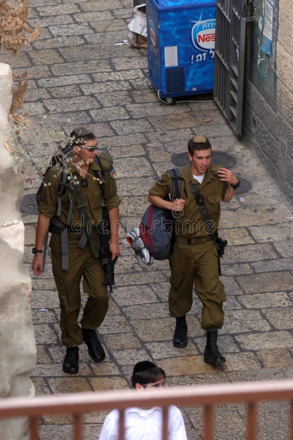 Polícia fronteiriça israelita fotos de stock
