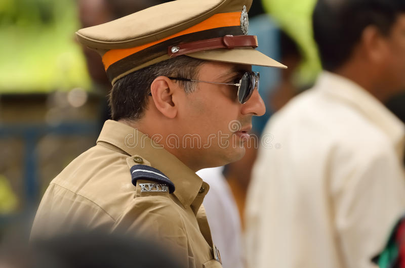 Polícia indiana imagens de stock royalty free