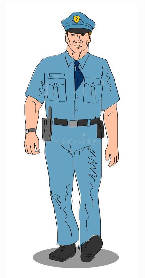 Polícia na batida ilustração do vetor