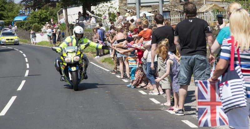 Polícia no velomotor fotos de stock