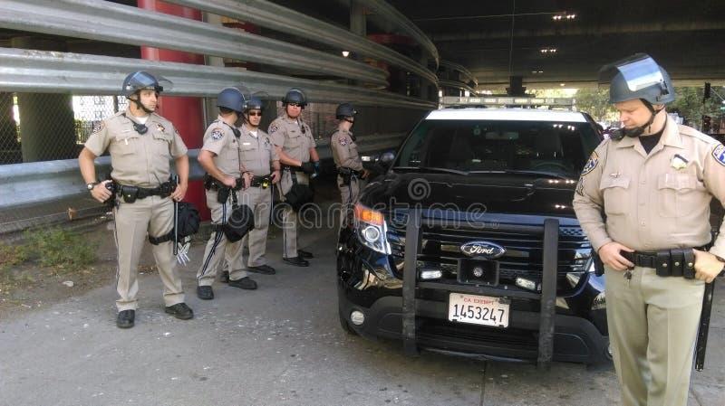 A polícia preta da matéria das vidas protesta imagem de stock royalty free