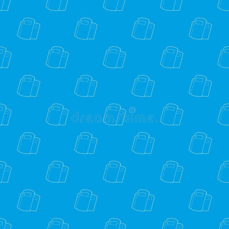 A polícia protege o azul sem emenda do vetor do teste padrão ilustração royalty free