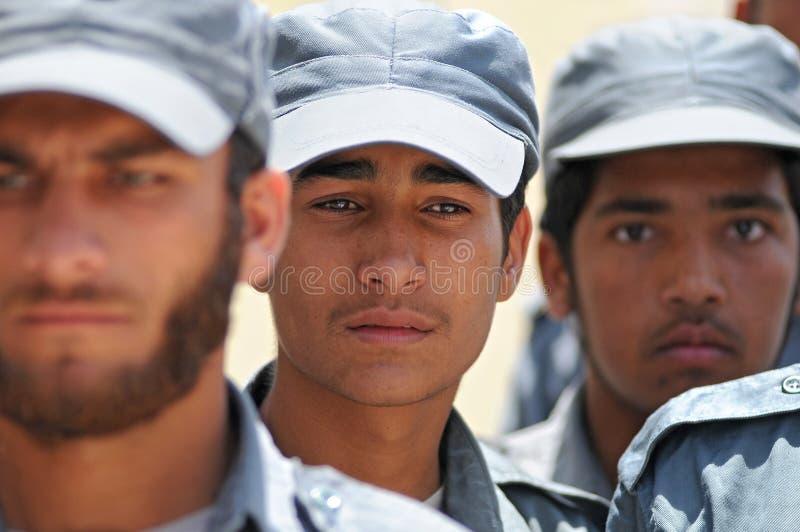 Polícias afegãos 2 foto de stock royalty free