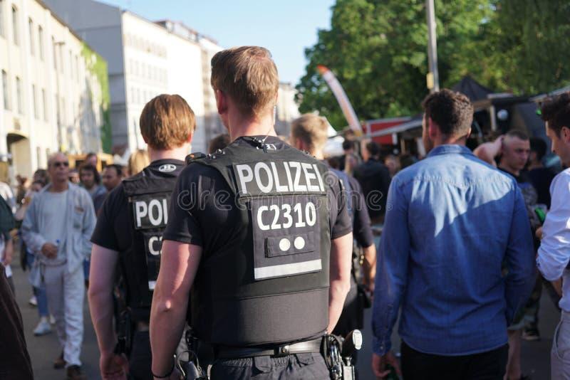 Polícias alemães Polizei fotos de stock royalty free
