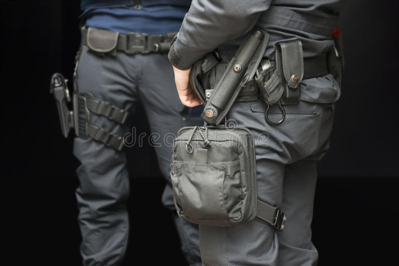 Polícias armados imagem de stock