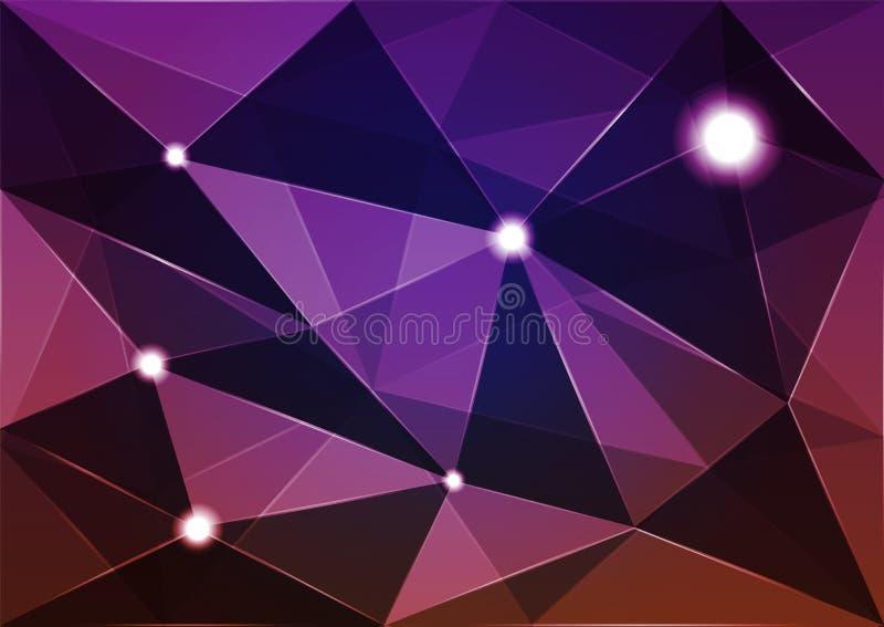 Polígono abstrato do fundo fotografia de stock