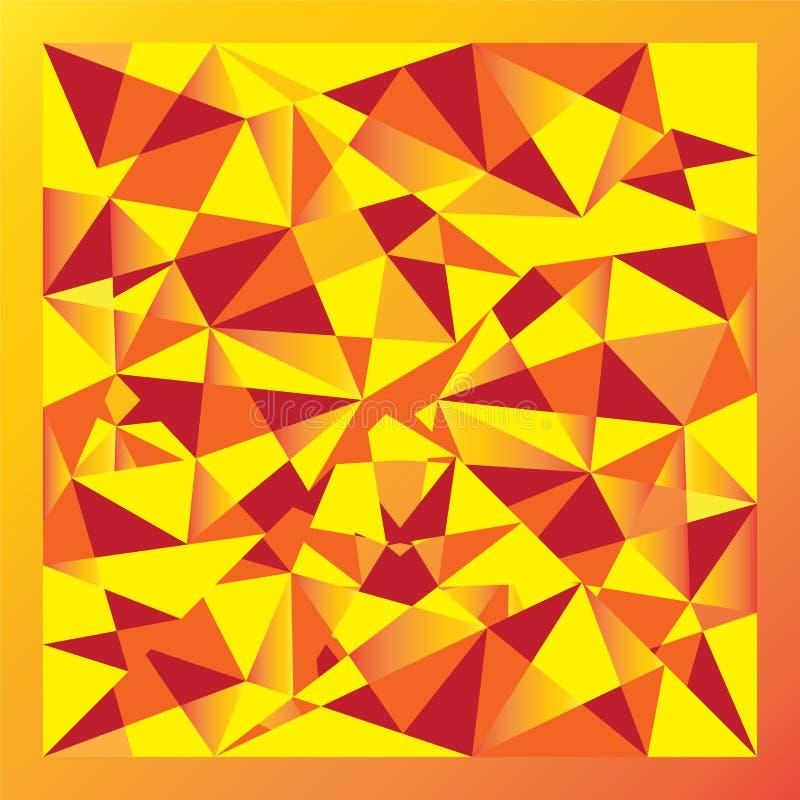 Polígono amarillo de la pendiente stock de ilustración