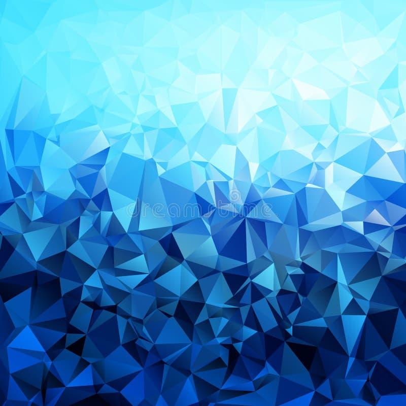 Polígono azul abstracto de la pendiente formado ilustración del vector