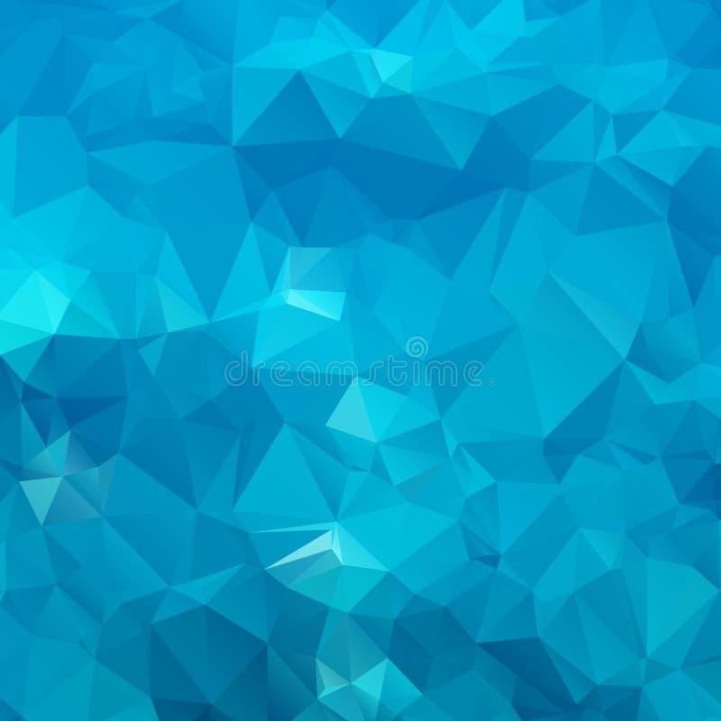 Polígono azul abstracto del fondo. stock de ilustración