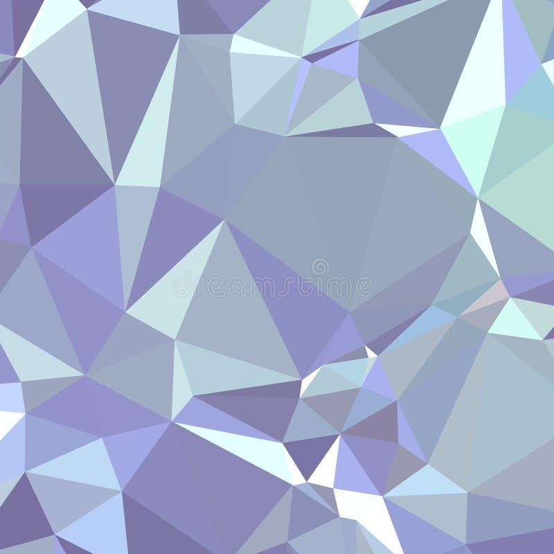Polígono azul e cinzento do triângulo na ilustração quadrada do fundo da forma ilustração do vetor