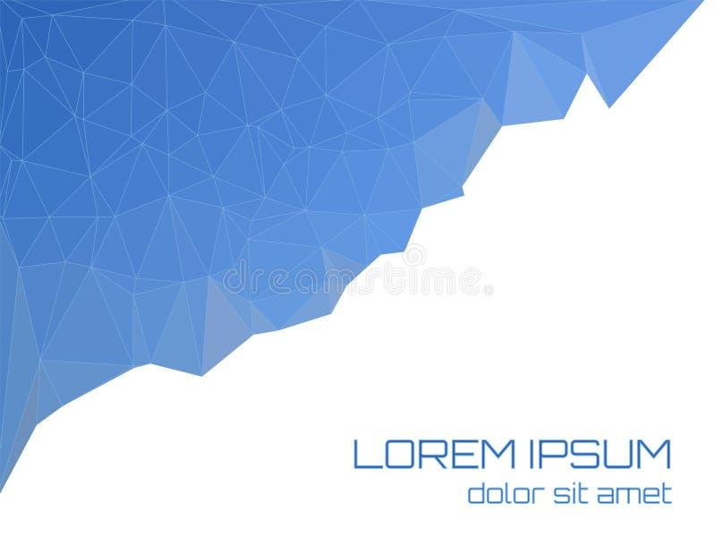 Polígono azul en un fondo blanco Lugar para el texto stock de ilustración