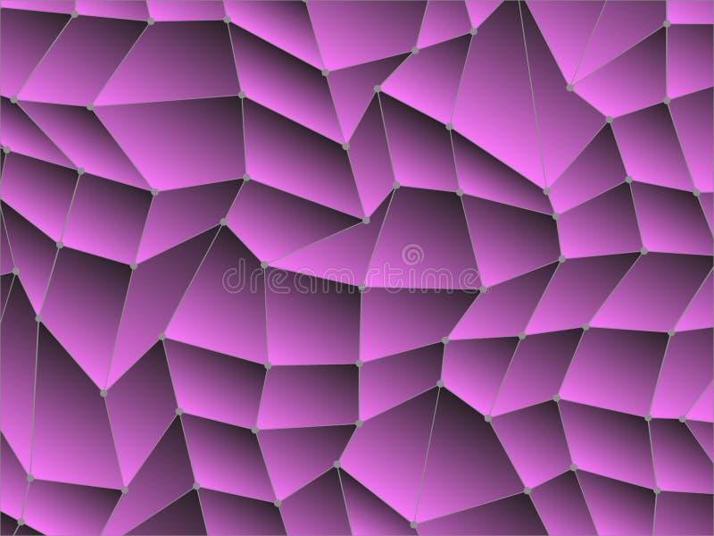 Polígono bajo con la línea y el punto libre illustration