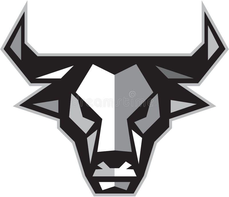 Polígono bajo de la cabeza de la vaca de Bull stock de ilustración