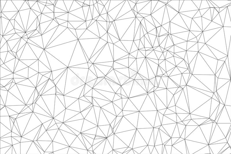 Polígono blanco y negro del fondo. ilustración del vector