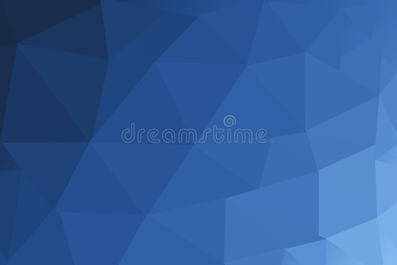 Polígono borroso AZUL MARINO del triángulo ilustración del vector