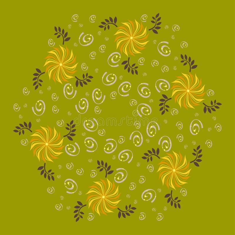 Polígono com ornamento floral imagens de stock