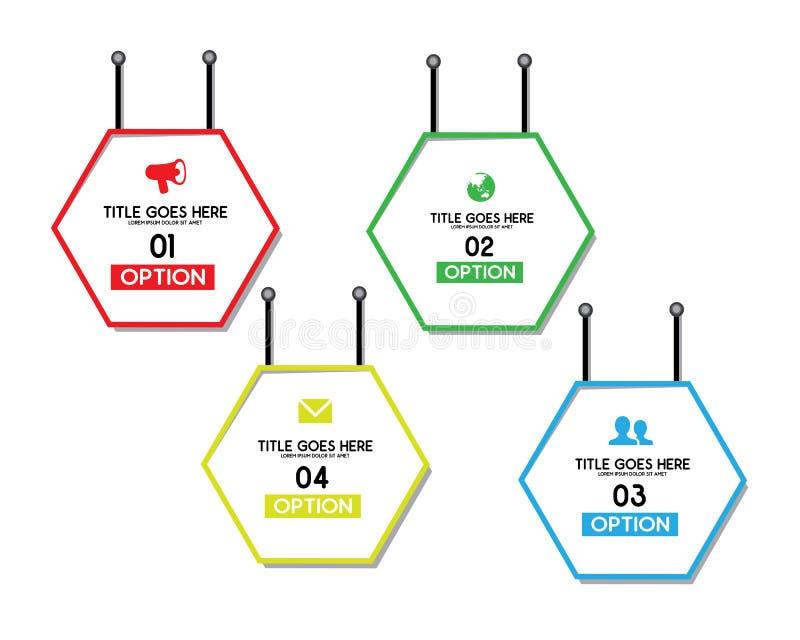 Polígono de la opción infographic libre illustration