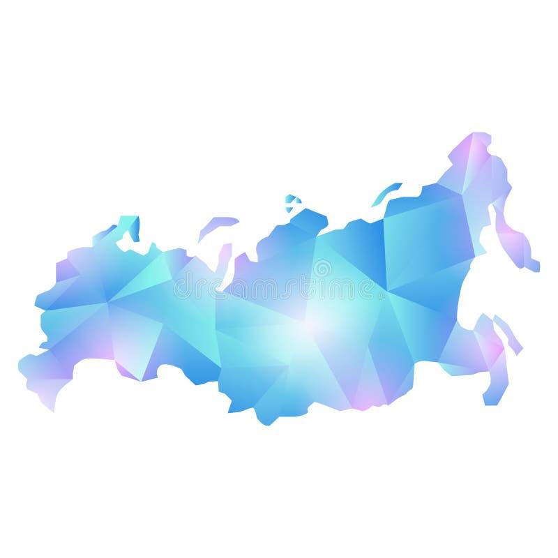 Polígono de Rusia del mapa del vector libre illustration