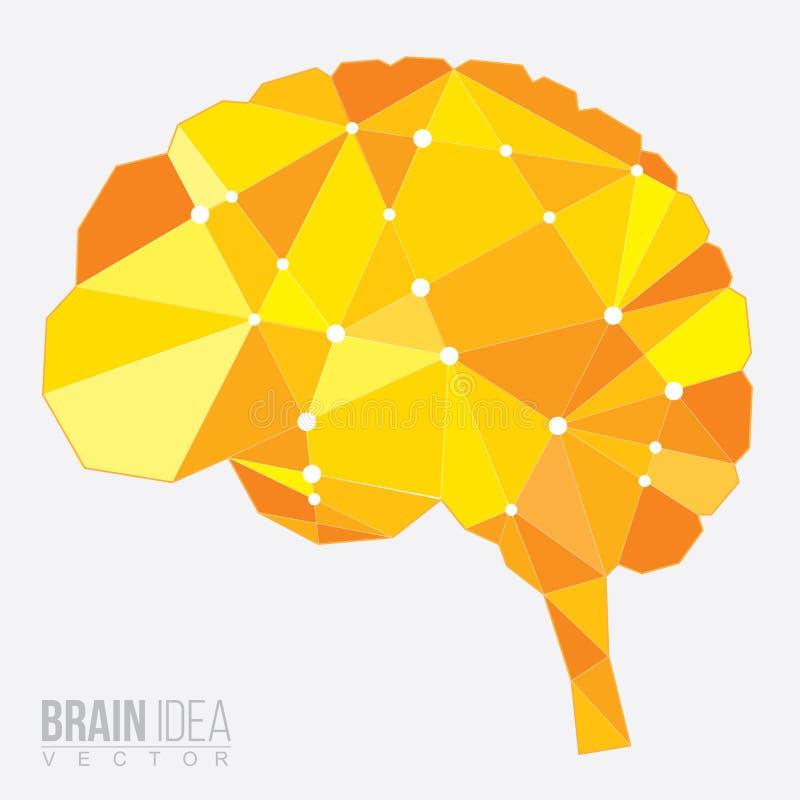 Polígono del cerebro, ejemplo del vector libre illustration