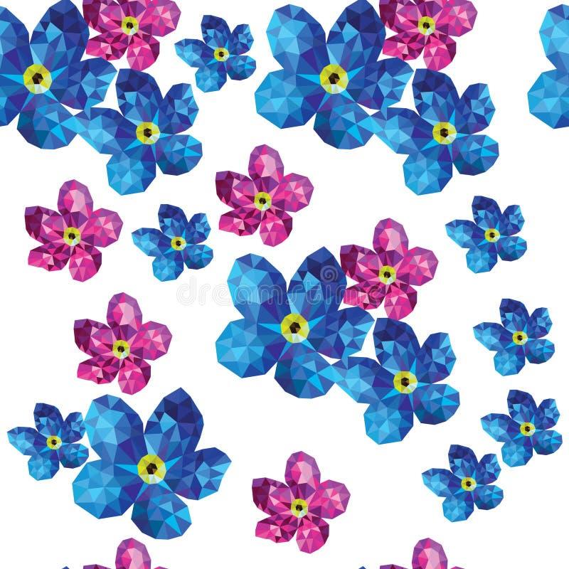 Polígono del estampado de flores libre illustration