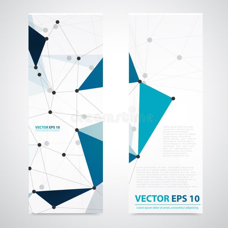 Polígono del extracto del fondo de la red del vector libre illustration