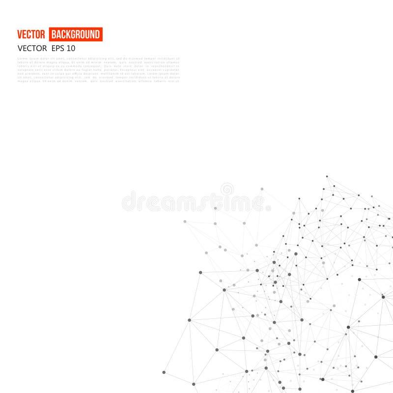 Polígono del extracto del fondo de la red del vector ilustración del vector