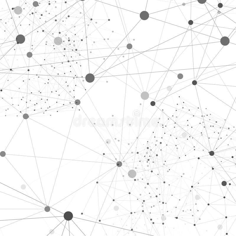 Polígono del extracto del fondo de la red del vector stock de ilustración
