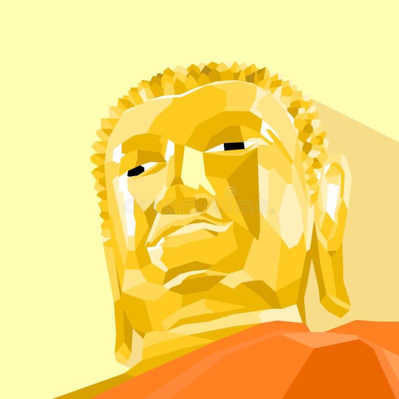 Polígono del vector de la estatua de Buda diseñado foto de archivo libre de regalías