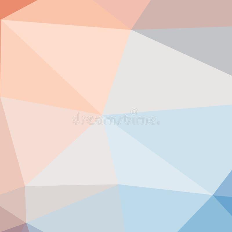 polígono Fondo geométrico en estilo de la papiroflexia con pendiente Formas geométricas quebradas ilustración del vector