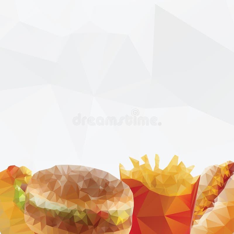 Polígono geométrico do fast food - vetor ilustração do vetor