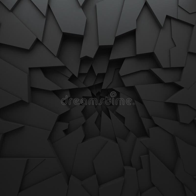 Polígono geométricos do sumário da cor, como a parede da quebra Interior 12 ilustração royalty free