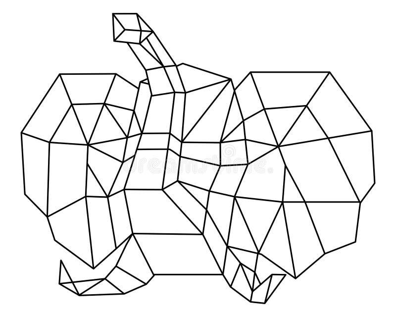 Polígono principal del elefante imágenes de archivo libres de regalías