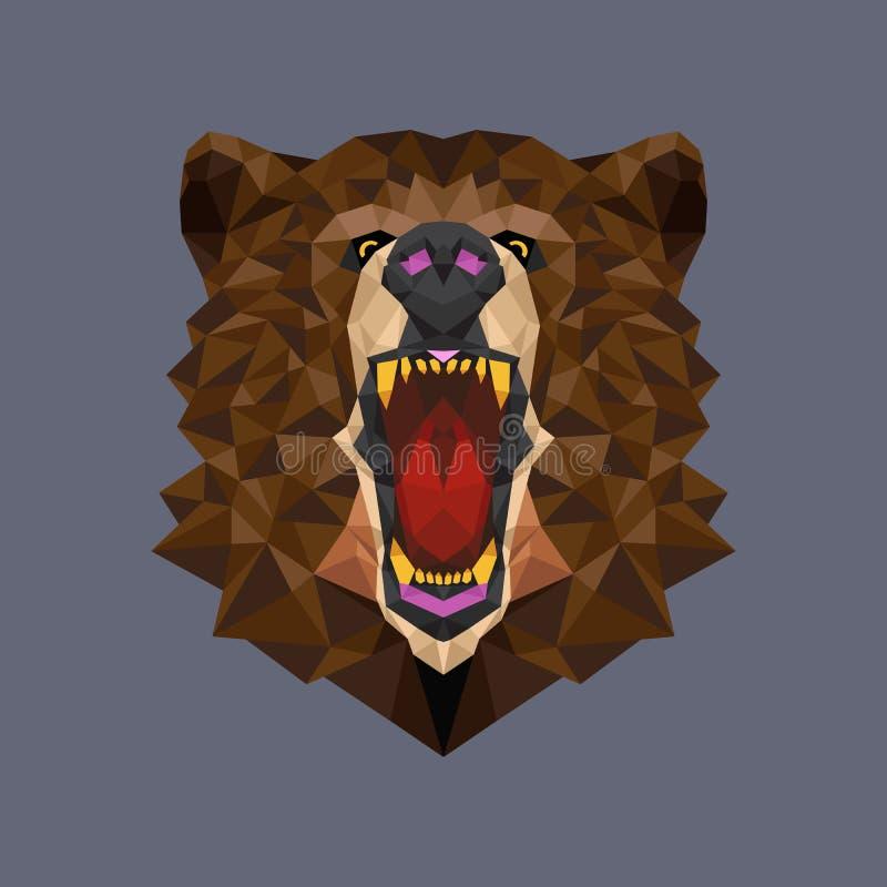 Polígono principal geométrico, ejemplo del oso del vector libre illustration