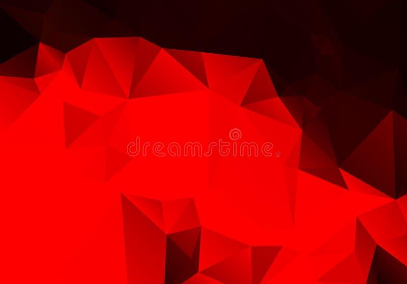 Polígono rojo abstracto brillante del fondo libre illustration