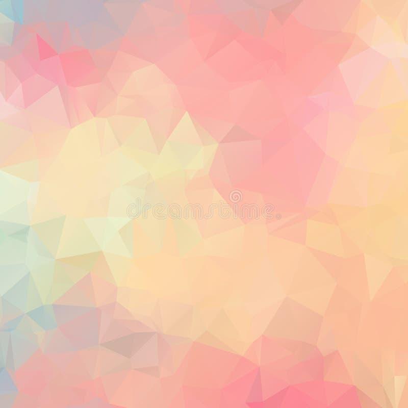 Polígono rosa claro del fondo Modelo abstracto libre illustration