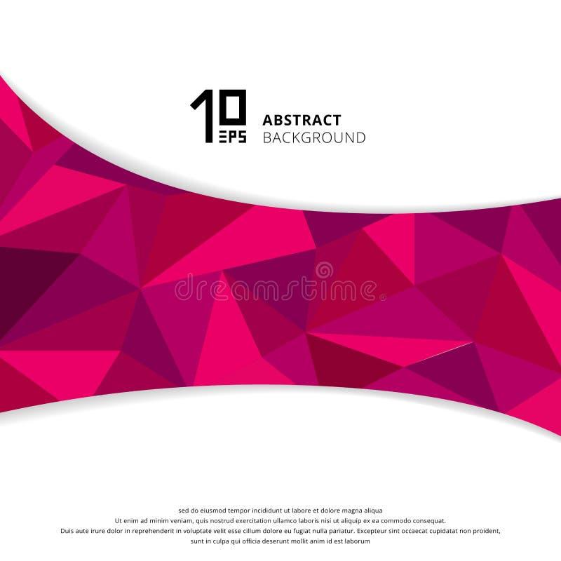 Polígono rosado o púrpura geométrico abstracto en el fondo blanco libre illustration
