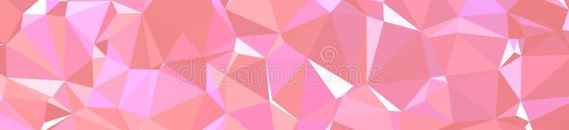 Polígono rosado y púrpura del triángulo en el ejemplo del fondo de la forma de la bandera libre illustration