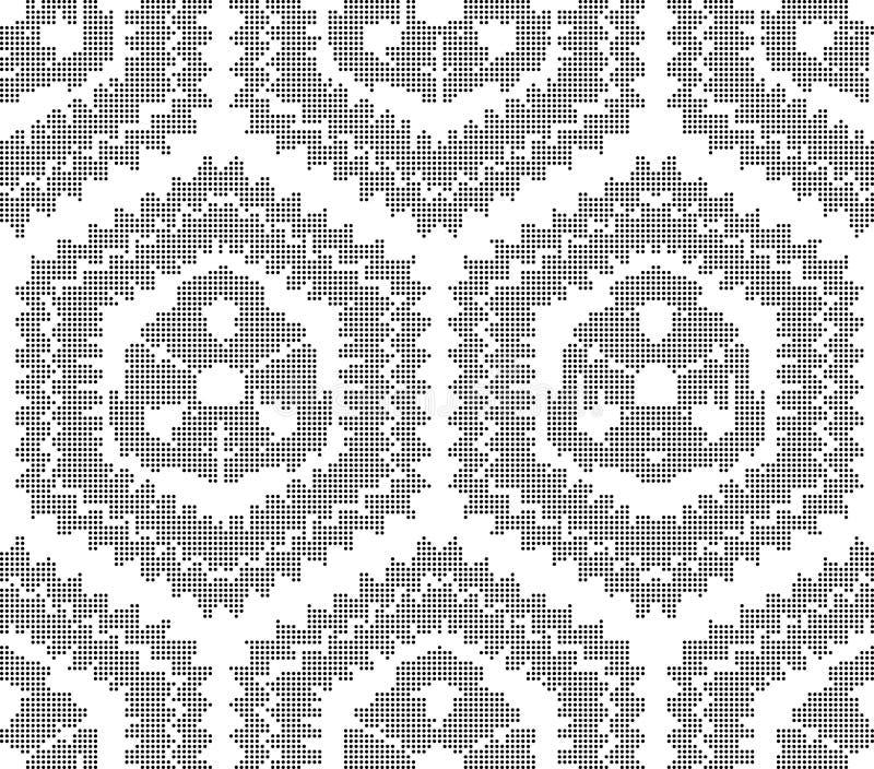 Polígono sem emenda preto redondo de intervalo mínimo do lado do sawtooth do fundo ilustração do vetor