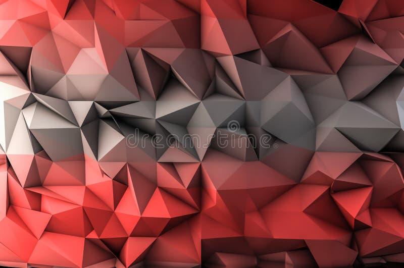 Polígono vermelho fotografia de stock