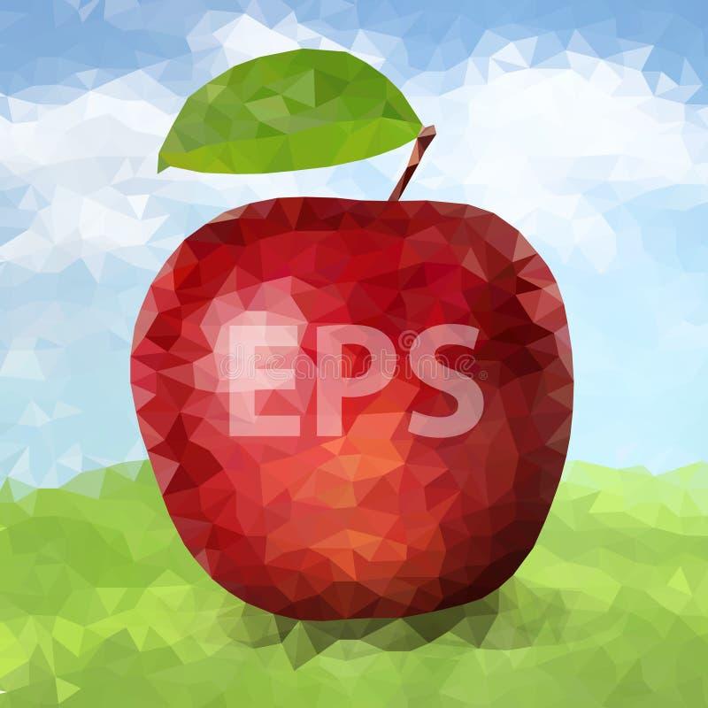 Polígono vermelho Apple 02 [convertido] ilustração stock