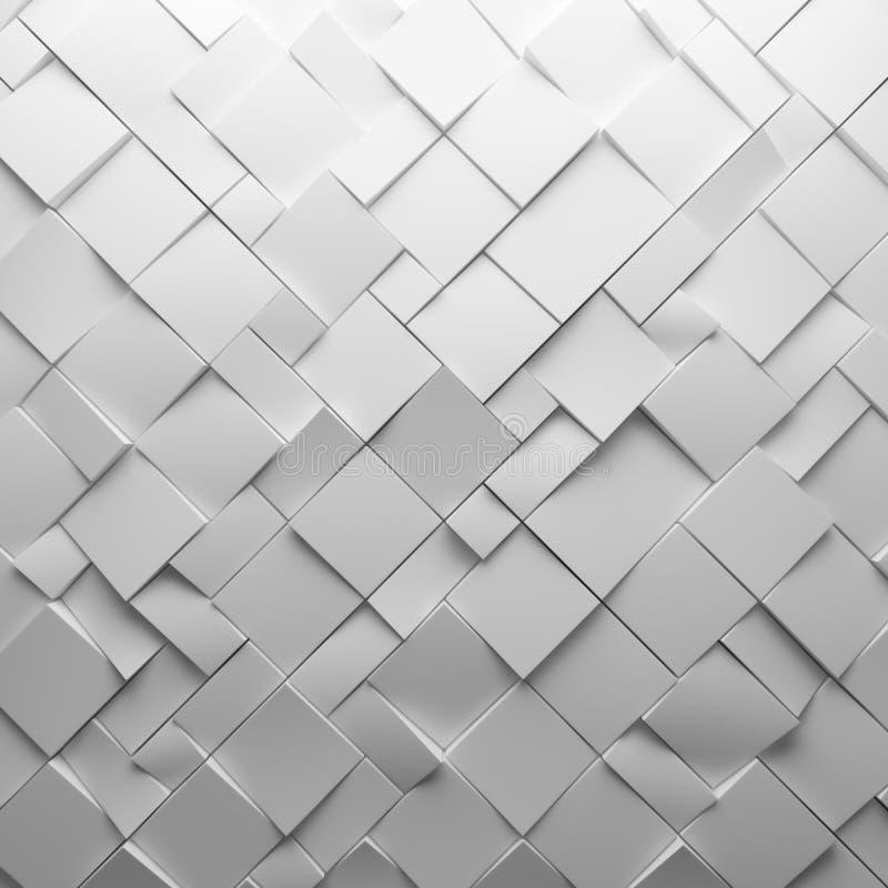 Polígonos abstractos blancos geométricos, como pared de la teja foto de archivo libre de regalías