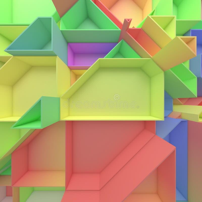 Polígonos geométricos del extracto del color ilustración del vector