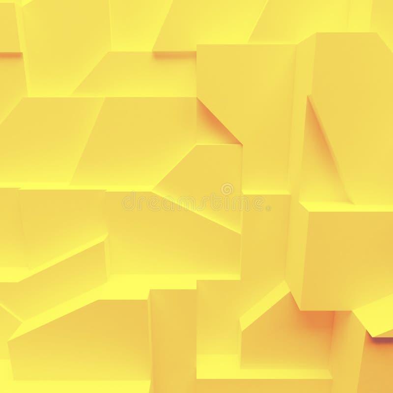 Polígonos geométricos del extracto del color, como pared de la grieta fotos de archivo libres de regalías