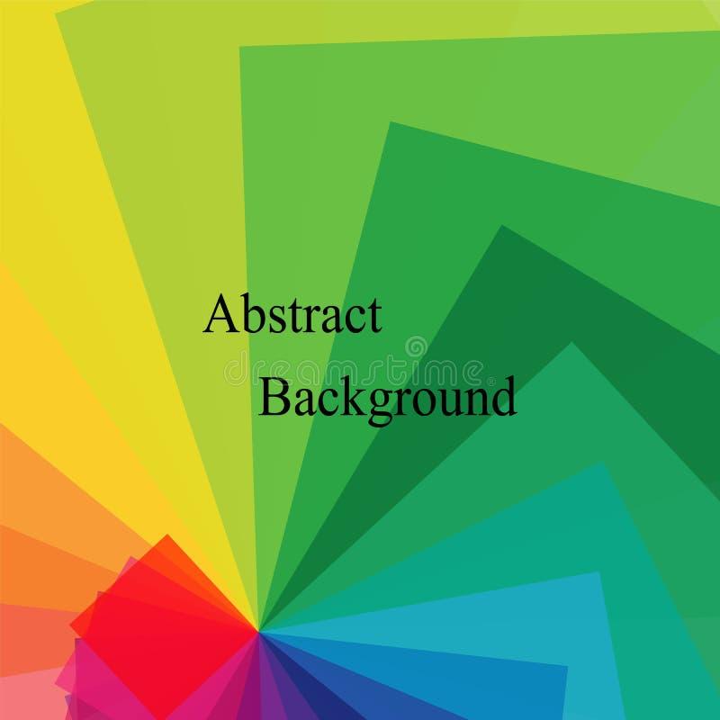 Polígonos transparentes coloridos torcidos en espiral abstraiga el fondo Conveniente para la materia textil, la tela, empaquetar  ilustración del vector