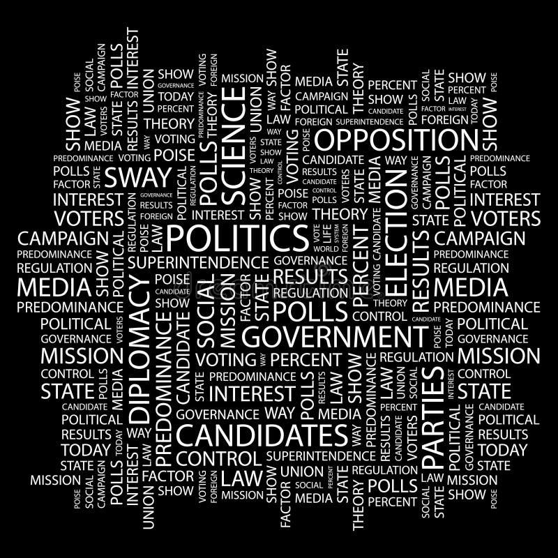 POLÍTICA. ilustração do vetor